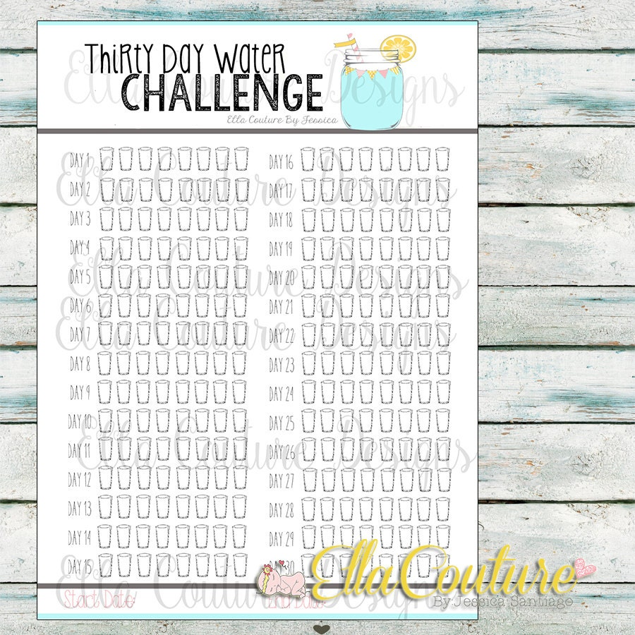 30 day water challenge pdf