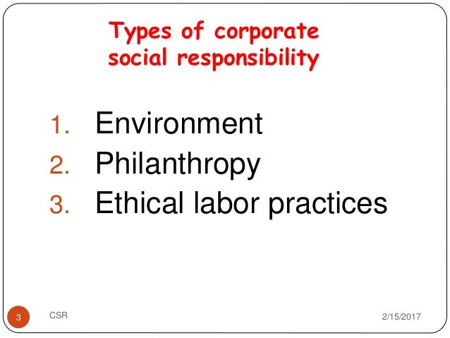 types of corporate social responsibility pdf