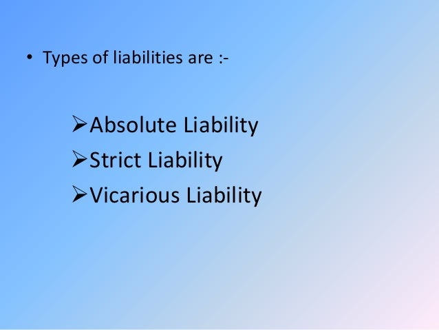 strict liability and absolute liability pdf