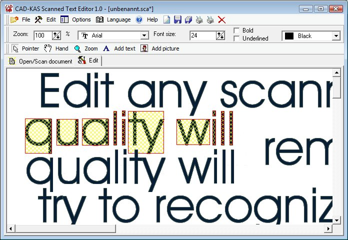 how do i edit text in a scanned pdf document