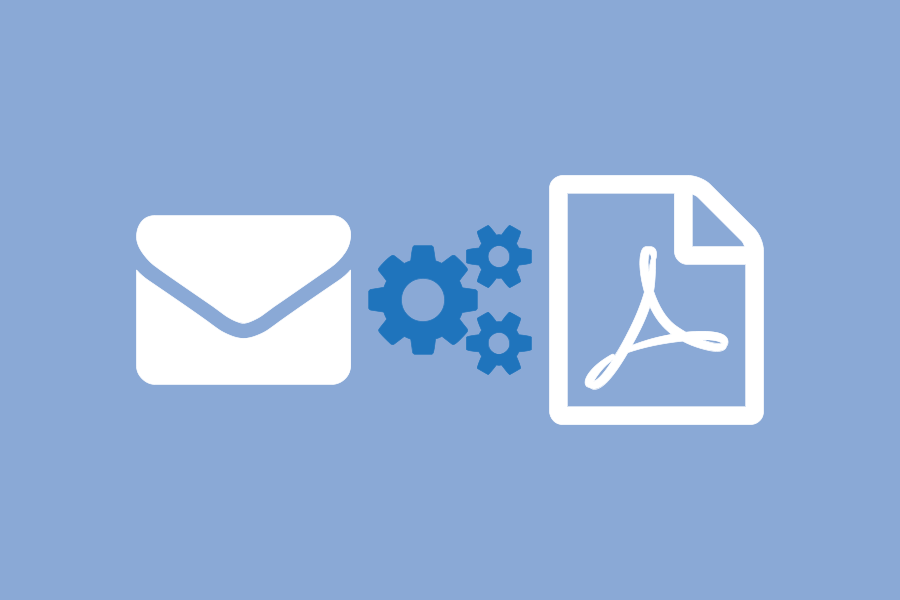 how to convert email to pdf