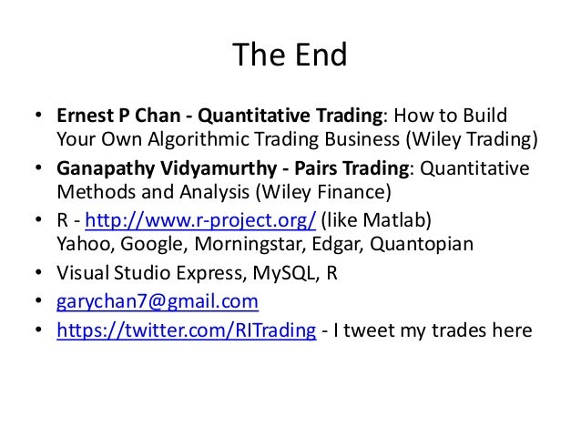 pairs trading quantitative methods and analysis wiley finance pdf