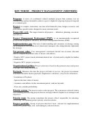 project management glossary of terms pdf